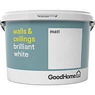 GoodHome Brilliant white Vinyl matt Emulsion paint, 2.5L