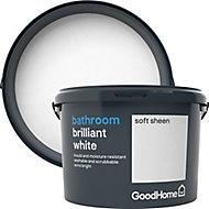 GoodHome Bathroom Brilliant white Soft sheen Emulsion paint 2.5