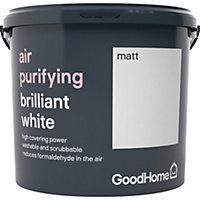 GoodHome Air purifying Brilliant white Matt Emulsion paint 5L
