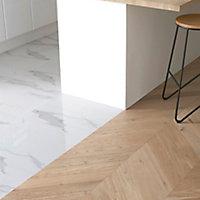 GoodHome Eslov Natural Oak Real wood top layer flooring, 1.75m² Pack