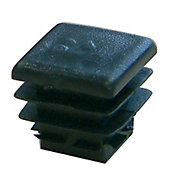 Diall uPVC Black Square End fitting, Pack of 5