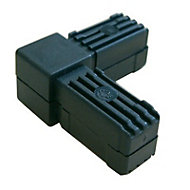 Diall Black Round Tube connector, (H)20mm (W)20mm