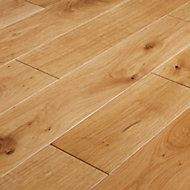 GoodHome Visby Natural Oak Solid wood flooring, 1.44m2 Pack