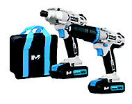 Mac Allister 18V 1.5Ah Combi drill & impact driver kit 2 batteries