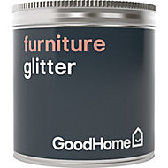 GoodHome Silver effect Furniture Paint Glitter Pot, 50g