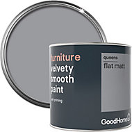 GoodHome Queens Flat matt Furniture paint, 0.5L