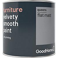 GoodHome Queens Flat matt Furniture paint, 0.5L