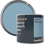 GoodHome Monaco Flat matt Furniture paint, 0.5L