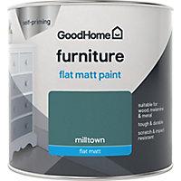 GoodHome Milltown Flat matt Furniture paint 500ml