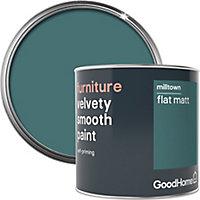 GoodHome Milltown Flat matt Furniture paint, 0.5L