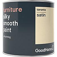 GoodHome Toronto Satin Furniture paint, 0.5L
