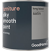 GoodHome Long island Satin Furniture paint, 0.5L