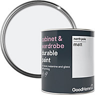 GoodHome Durable North pole (Brilliant white) Matt Cabinet & wardrobe paint, 0.75L