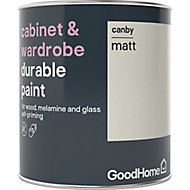 GoodHome Durable Canby Matt Cabinet & wardrobe paint, 0.75L