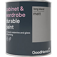 GoodHome Durable Long island Matt Cabinet & wardrobe paint, 0.75L