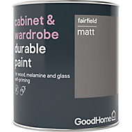 GoodHome Durable Fairfield Matt Cabinet & wardrobe paint, 0.75L