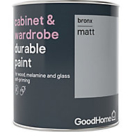 GoodHome Durable Bronx Matt Cabinet & wardrobe paint, 0.75L