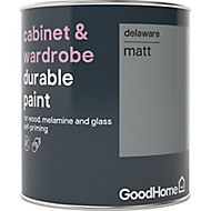 GoodHome Durable Delaware Matt Cabinet & wardrobe paint, 0.75L