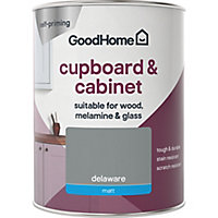 GoodHome Durable Delaware Matt Cabinet & wardrobe paint 750ml