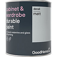 GoodHome Durable Denali Matt Cabinet & wardrobe paint, 0.75L