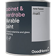 GoodHome Durable New haven Matt Cabinet & wardrobe paint, 0.75L