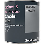 GoodHome Durable Beverly hills Metallic effect Cabinet & wardrobe paint, 0.75L