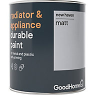 GoodHome Durable New haven Matt Radiator & appliance paint, 0.75L