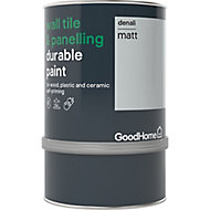 GoodHome Durable Denali Matt Wall tile & panelling paint, 0.75L
