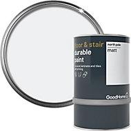 GoodHome Durable North pole (Brilliant white) Matt Floor & stair paint, 0.75L