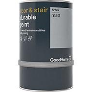 GoodHome Durable Bronx Matt Floor & stair paint, 0.75L