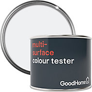 GoodHome North pole (Brilliant white) Satin Multi-surface paint, 0.07L
