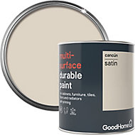 GoodHome Durable Cancun Satin Multi-surface paint, 0.75L