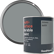 GoodHome Durable Delaware Satin Multi-surface paint, 0.75L