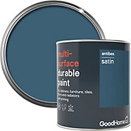 GoodHome Durable Antibes Satin Multi-surface paint, 0.75L