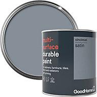 GoodHome Durable Cincinnati Satin Multi-surface paint, 0.75L