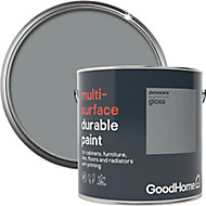 GoodHome Durable Delaware Gloss Multi-surface paint, 2L
