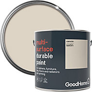 GoodHome Durable Cancun Satin Multi-surface paint, 2L