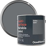 GoodHome Durable Hamilton Satin Multi-surface paint, 2L