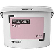 Pink Matt Emulsion paint, 2.5L