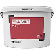 Red Matt Emulsion paint, 2.5L
