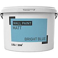 Bright blue Matt Emulsion paint, 2.5L