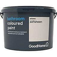 GoodHome Bathroom Ottawa Soft sheen Emulsion paint 2.5L