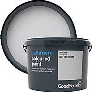 GoodHome Bathroom Whistler Soft sheen Emulsion paint 2.5L