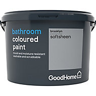 GoodHome Bathroom Brooklyn Soft sheen Emulsion paint, 2.5L