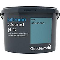GoodHome Bathroom Nice Soft sheen Emulsion paint 2.5L