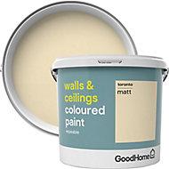 GoodHome Walls & ceilings Toronto Matt Emulsion paint, 5L