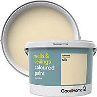 GoodHome Walls & ceilings Toronto Silk Emulsion paint, 2.5L