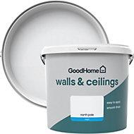 GoodHome Walls & ceilings North pole Matt Emulsion paint 5L