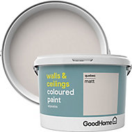GoodHome Walls & ceilings Quebec Matt Emulsion paint, 2.5L