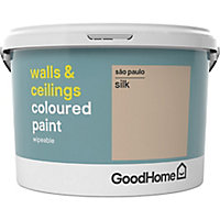 GoodHome Walls & ceilings Sao paulo Silk Emulsion paint, 2.5L